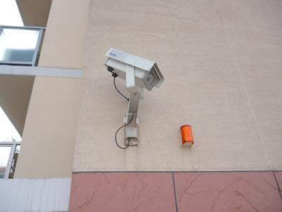 CQレジデンス玉川学園の防犯カメラもしっかりついてます