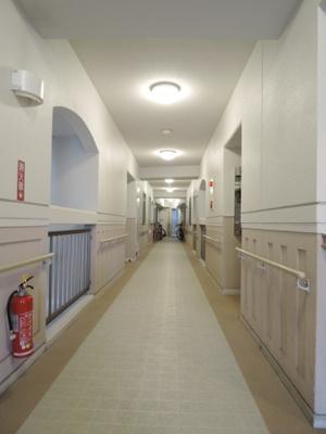 エレベーターを降りるとホテルライクな中廊下が玄関まで導いてくれます♪