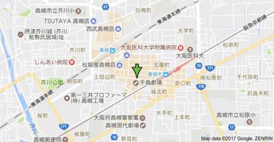 【地図】エクセレント高槻 株式会社Roots