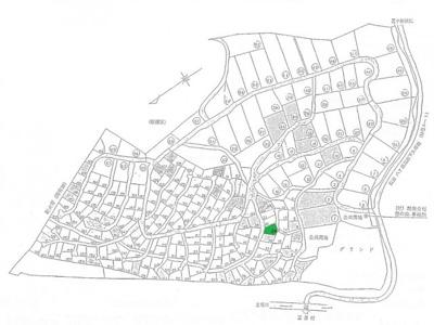 【区画図】長野県諏訪郡富士見町立沢広原 売地