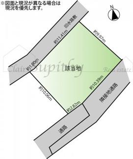 【土地図】建築条件無整形地 辻堂新町3丁目
