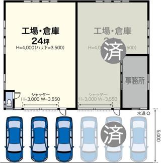 新吉田町4576-2貸工場・貸倉庫