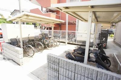 ★敷地内の駐輪場
