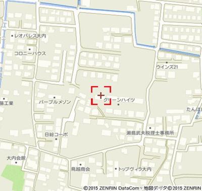 【地図】グリーンハイツA