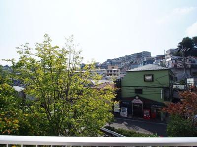1階と思えない、バルコニーからの眺望です。