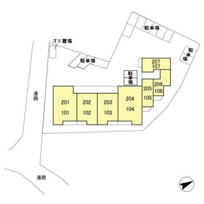 【区画図】D-room(大和)スカイハイツ諏訪