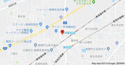 【地図】フェリセ富田 (株)Roots