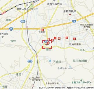【地図】サンピア植田