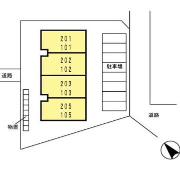 【区画図】アメニティ中川