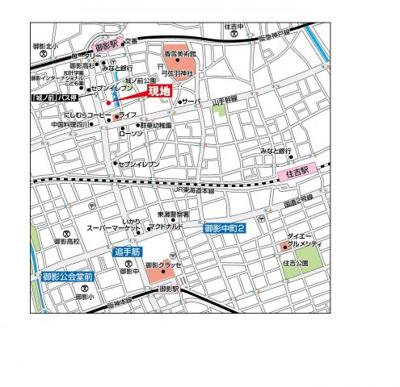【地図】ウエストヒル御影城ノ前