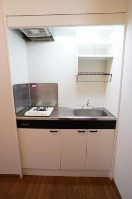 キッチンは1口のガスコンロです!