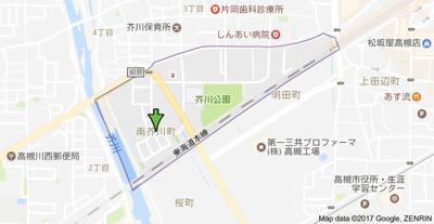 【地図】レジデントヒラノ (株)Roots