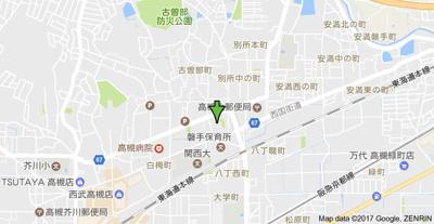 【地図】高槻スカイハイツ (株)Roots