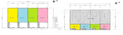 【外観】船堂 北側リース倉庫