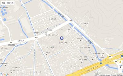 【地図】パークハイツ