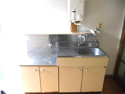 ガスコンロが設置可能なキッチンセット