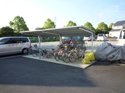駐車場と駐輪場です。