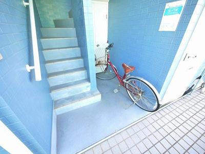 自転車も置けます。