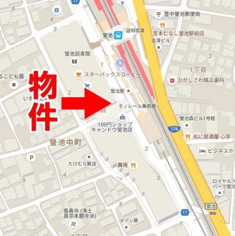 【地図】ルシオーレA棟