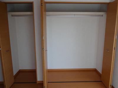 マードレネギシ 洋室にある約1間半分のゆったりとしたクローゼット