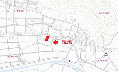 【地図】下新庄売土地