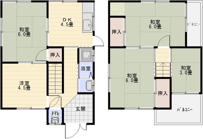 田辺2丁目5DK一戸建て