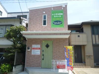 【外観パース】レンタル収納スペース Green Beans 熊谷宮前町店(Dタイプ階段上)