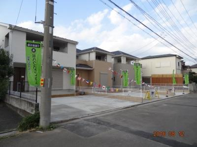 【前面道路含む現地写真】さいたま市緑区馬場2丁目 土地広々約50坪 新築分譲住宅全3棟・残1棟