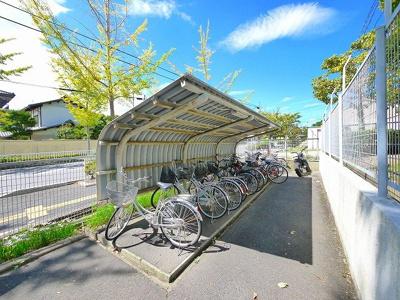 自転車置き場が豊富です。