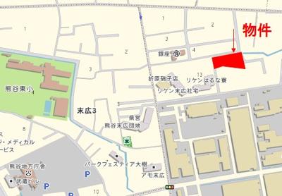 【地図】熊谷市末広4丁目