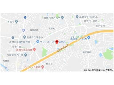 【地図】アルカディア真上台A棟 (株)Roots