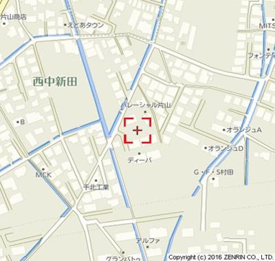 【地図】エステート西中A