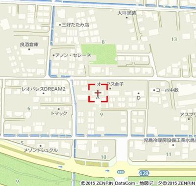 【地図】オークス金子C