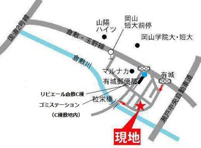 【地図】リビエール倉敷