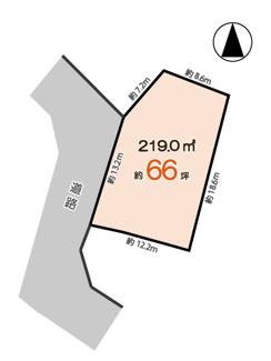 【区画図】神戸市西区白水1丁目 売土地