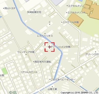 【地図】グリーンハイツ中島