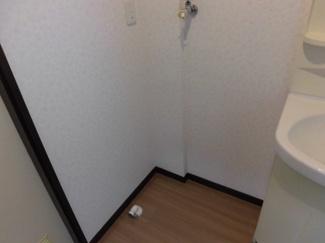 これは外せない条件の一つですね。室内洗濯機置き場です。