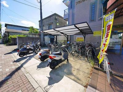 駐輪場があるので、買い物やお出掛けもしやすいですね!