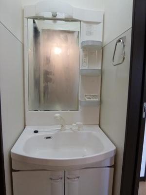 洗髪洗面化粧台シャワー付き