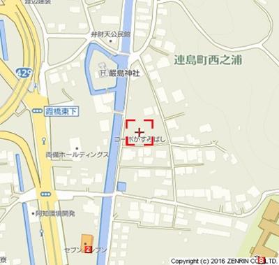 【地図】コーポかすみばし