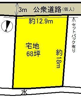 【土地図】黒石市岩木町売地