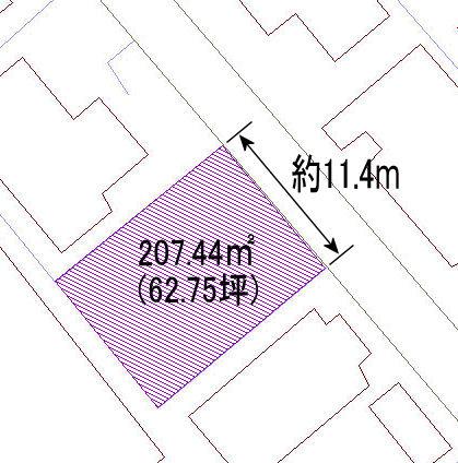 【土地図】富益町売り土地