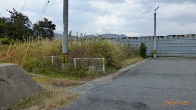 【前面道路含む現地写真】外江町 売り土地