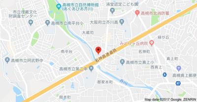 【地図】第8摂津グリーンハイツ (株)Roots