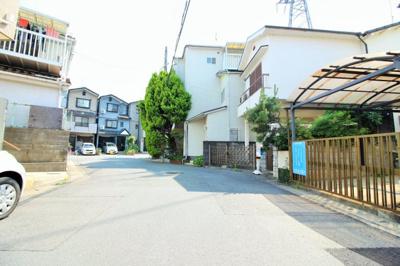 【前面道路含む現地写真】伏見区桃山町 自由設計 建築条件なしの土地