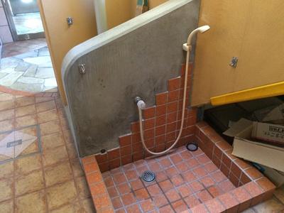 ペット専用の洗い場