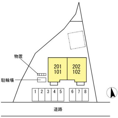 【地図】D-ROOM千塚
