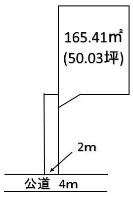 【土地図】深谷市上野台 400万 土地