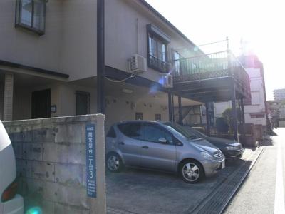 【外観】プチコーポ原駐車場
