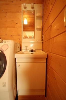 【独立洗面台】西竹之丸戸建スウェーデン式ログハウス